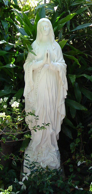 Virgin Mary Grotto Statue